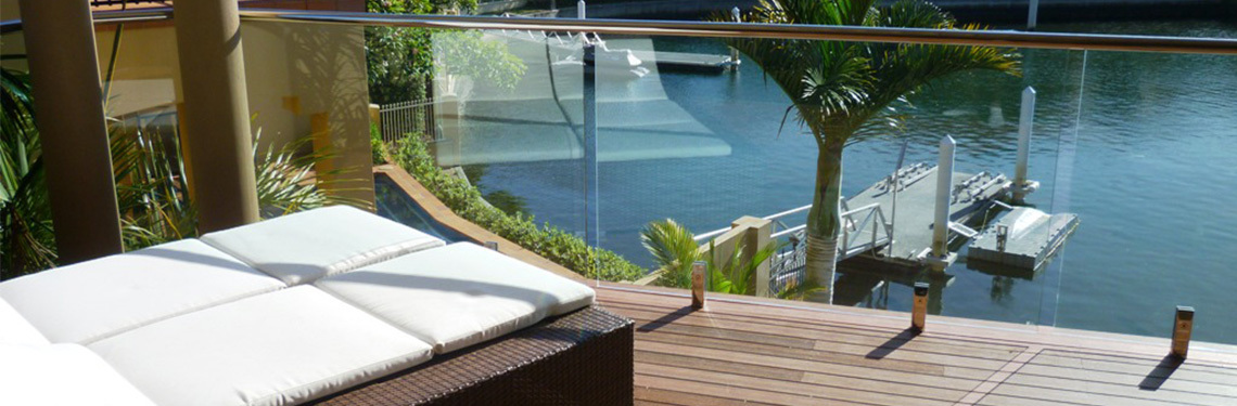 Frameless Glass Balustrades in Bristol on Wooden Decking