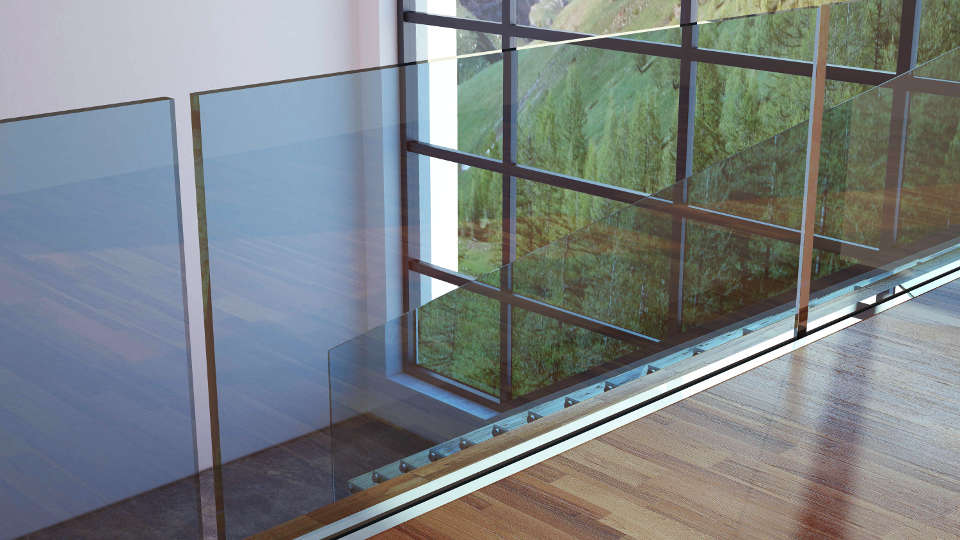 Bristol Balustrade in Glass